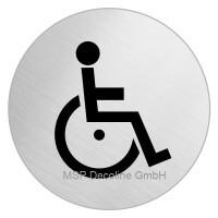 Piktogramm Behinderten WC Motiv 2 100mm Rund