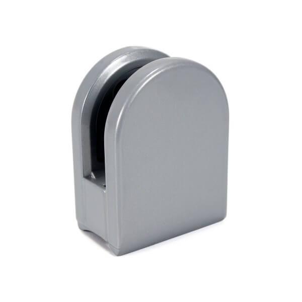 Klemmhalter Silber halbrund für 8mm PS in Rund