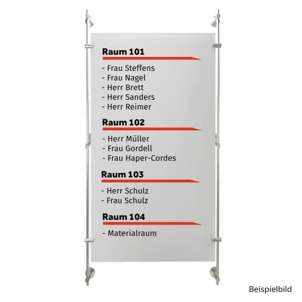 Stangen Befestigungs Set 1 Alu Satiniert mit 150 cm Länge für Schilder