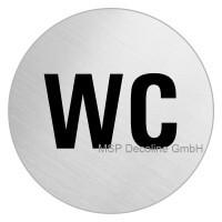 Piktogramm WC 100mm Rund